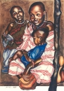 "Kim Bennett, ""Masai Mother and Children"" , 1995 , Mixed media , Approx 120 x 80 cm"