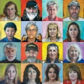 Extraordinary faces: Volunteers series, Beeswax & oil on board, 40cm x 40cm each portrait