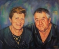 """Maria and Peter"" ---- oils on canvas ---approx 65cm x 95cm"