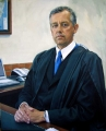 DAVID WILLIAMS - Former Principal of Kinross Woloroi School - Orange. Oil on linen canvas (lifesize)