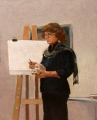 Jeanette  Korduba , Ann Cape demonstrating, oil on canvas, 49x36cm