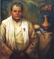 "Josefia  Lemon, \""Banquet of Life - Bill Crews\"" , 2002 , Oil on Canvas , 91cm x 84cm"