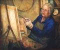 "Josefia  Lemon, \""Time Doesn\'t Matter - Nance Irvine\"" , 2002 , Oil on Canvas , 83.5cm x 98.5cm"