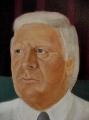 "Neil  Liddell, ""Hon. Syd Stirling MLA\"" , Oil on Canvas , 125cmX 125cm"