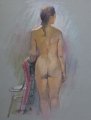 Figure With Drape: 480 x 580 Pastel