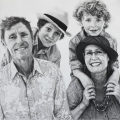 'Commission of The Evans',  Charcoal on Paper, 80cm x 80cm 2013