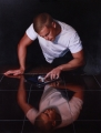 Narcissus 2.0-after Caravaggio_Oil on Linen-sm