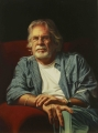 Story Lines (portrait of Micael Caulfield) Oil on Linen, 54cm x 42.7cm-sm