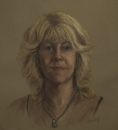 Self Portrait, pastel sketch, life-size