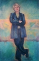 Shelley_L. 'Cheryl Kernot ' Oil on linen 180cmHx122cmw