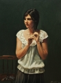 Alexandra    2004   Oil on Canvas    150x90cm    2004  Doug Moran National Portrait Prize finalist      Collection of Mr & Mrs  John Hawkins