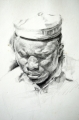 Sailor. Medium: Pencil. Size: