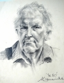 Sir Edmond Hilary. Medium: Pencil. Size:
