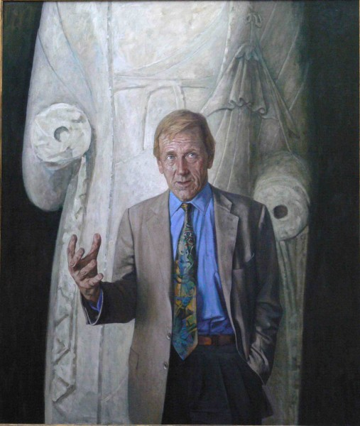 "artist - Jiawei Shen - ""Edmund Capon"" 2003 Oil on canvas, 213x183cm"