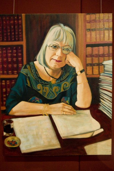 Dr Meredith Burgmann, president of NSW Parliament House - artist Janis Lander