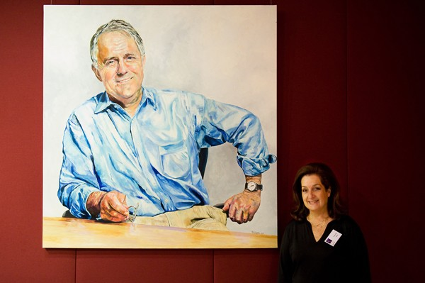 The Honorable Malcolm Turnbull by artist Vivian Falk