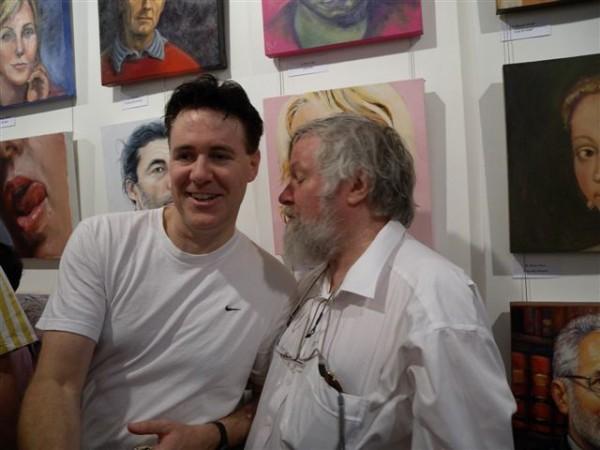 Paul Newton and Paul Delprat share a joke  - Paul Delprat opened the exhibition