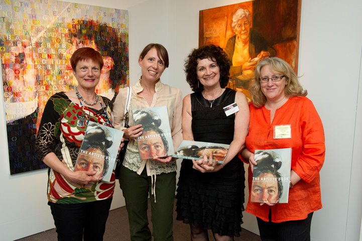 The Book Team - designers and editors - L-R Sally Robinson, Kathrin Longhurst, Janis Lander, Stephanie Brown.