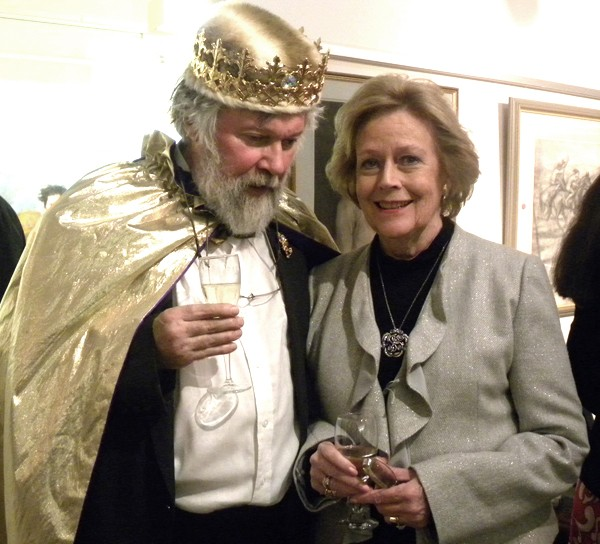 The Prince of Wy with Judy Pennefather, President of the Royal Art Society, North Sydney.