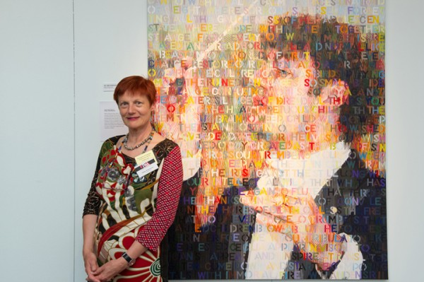 Sally Robinson at the Canberra opening 2012