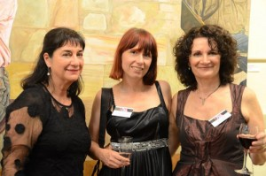 Committee members Jeanette Korduba, Kathrin Longhurst and janis Lander at the PAA exhibition opening at VAS in Melbourne 2011