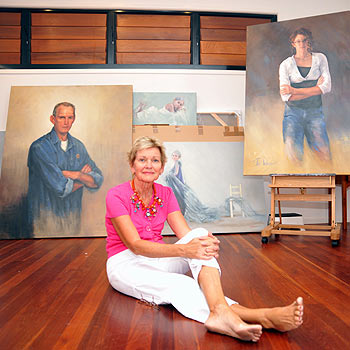 Jan Williamson in her studio