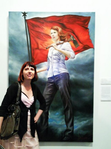 Kathrin Longhurst with Self Portrait