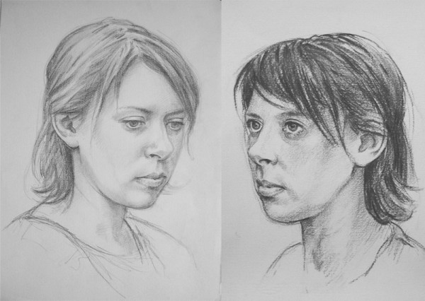 Studies for a portrait by Peter Marshall