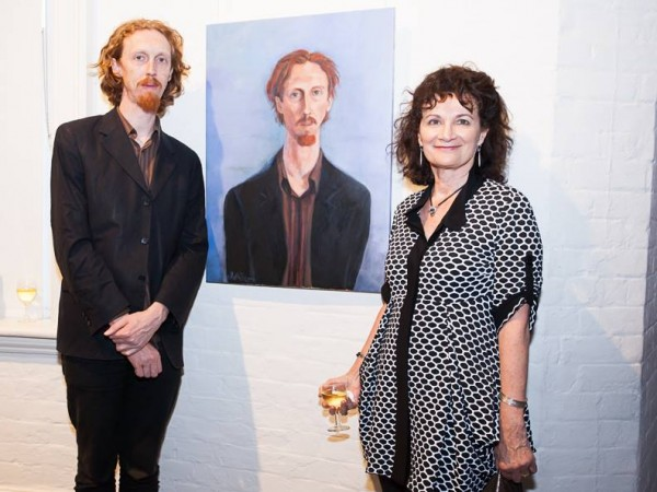 Trent Marden with Janis Lander at the opening of Portia Geach Award 2014