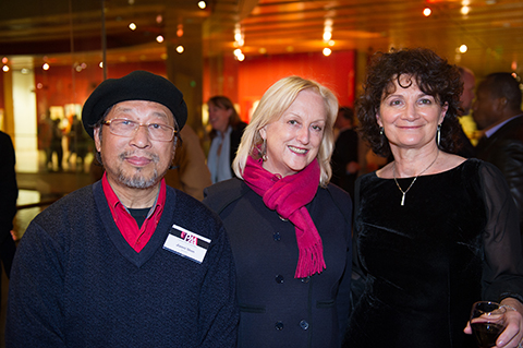 PAA exhibition at NSW Parliament House 2013 - artists Jaiwei Shen, Sinead Davies, Janis Lander