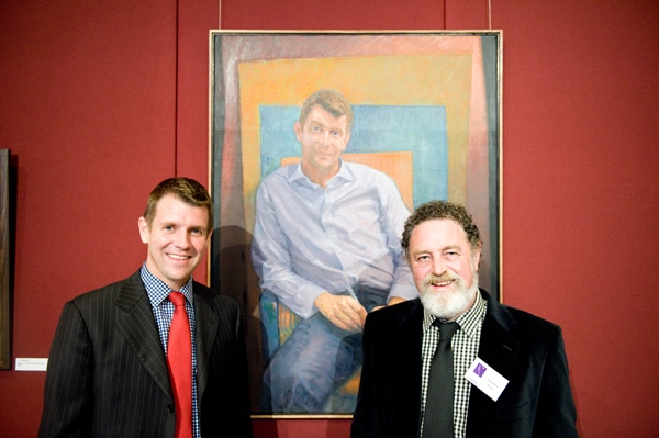 Bob Baird with sitter, 2009 NSW Parliament House