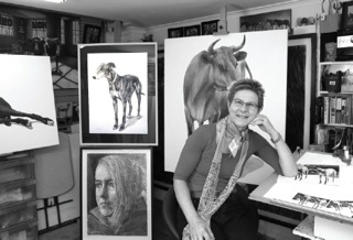 Wendy Jane Sheppard in her studio