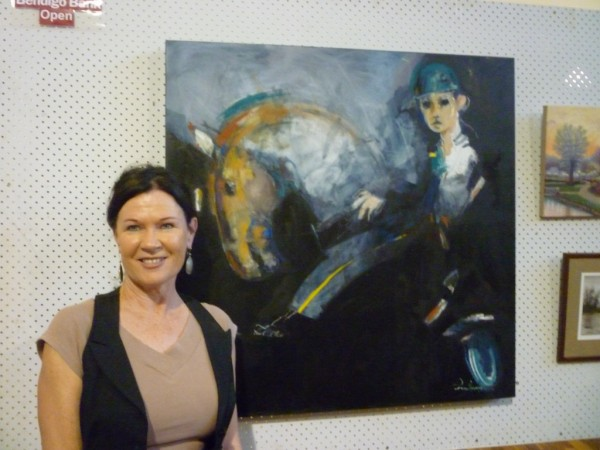 Julie Hutching - with 1st prize in the Grafton Arts Festival 2012