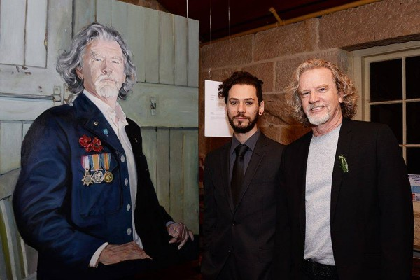 "Mertim with Donald Keys and the portrait from 'The Descendants Project"" 2015."