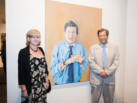 Kristin Hardiman with Professor Gordian Fulde at the 2014 Portia Geach Award Exhibition