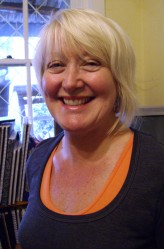 Lesley O'Shea in the studio