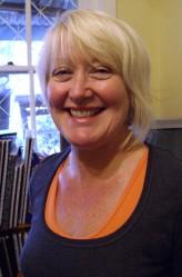 Lesley O'Shea in the studio