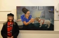 Julie Baillis-with her painting