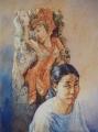 Bob Baird, Balinese Woodcarver – Watercolour, Image size 77x57