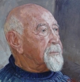Bob Baird, Dr Bert Flugelman AM – Oil on Canvas 40x40