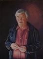 Peter Engel, Colin Slater, Head, Sing Australia, Acrylic on canvas 122cm x 91cm