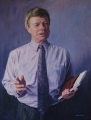 Peter Engel, Professor John McMillan, Commonwealth Ombudsman, Acrylic on canvas 110cm x 70cm
