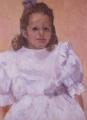 "Constance  Farquharson, \""Lily Bennet\"" , Oil on canvas , 59 x 44 cm"