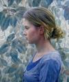 THE QUIET ART OF LISTENING (detail) oil on linen canvas