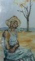 "Eva Suzanne  Herz-Murray, ""The Farmer\"" , Watercolour"