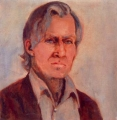 "Laura  Hopkins, \""Richard Ashton\"" , Oil on canvas , 44cm x 44.5cm"