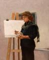 Jeanette  Korduba , Ann Cape demonstrating, oil on canvas, 49x36cm