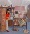 Jeanette Korduba , studio-opera-the-next-still-life-self-portrait-oil-on-lin