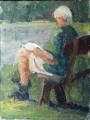 Jeanette  Korduba , study-for-bruce-thompson-oil-on-canvas-20cm-x-16cm-375-sold
