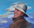 'Gary Dickson Chief Mountain Guide of NZ' Size 51 x 61 cm oils on canvas